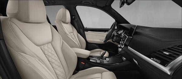 2020 BMW X3 Series full interior view 2
