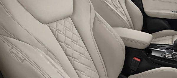 2020 BMW X3 Series seats texture close view