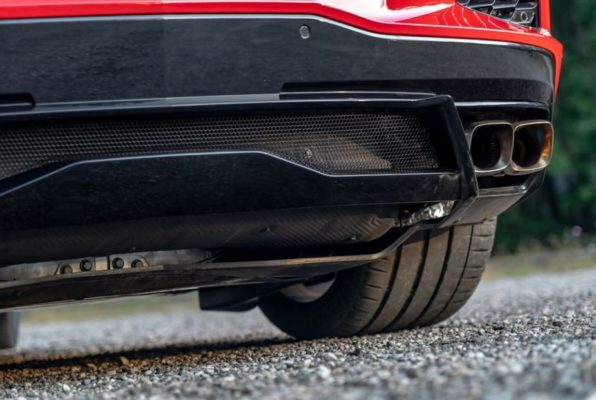 2020 Chevrolet corvette quad exhaust view