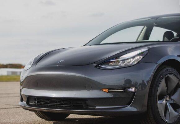 2020 Tesla Model 3 front close view