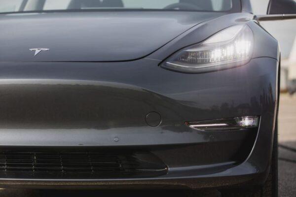 2020 Tesla Model 3 front headlamps