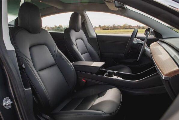 2020 Tesla Model 3 front seats