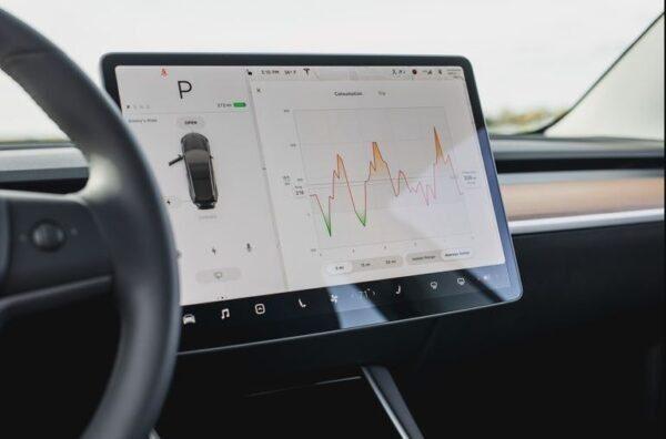 2020 Tesla Model 3 information screen