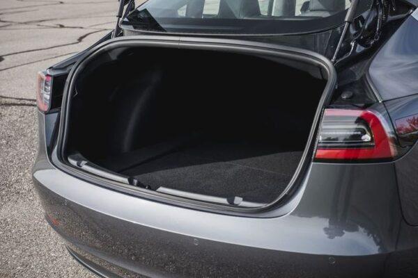 2020 Tesla Model 3 luggage area view