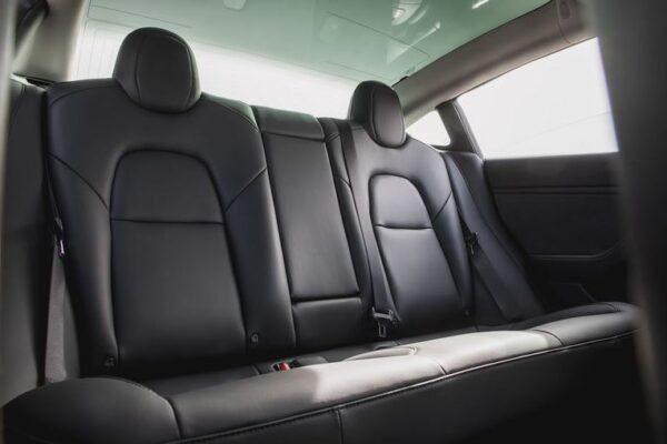 2020 Tesla Model 3 rear seats 2