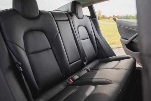 2020 Tesla Model 3 rear seats
