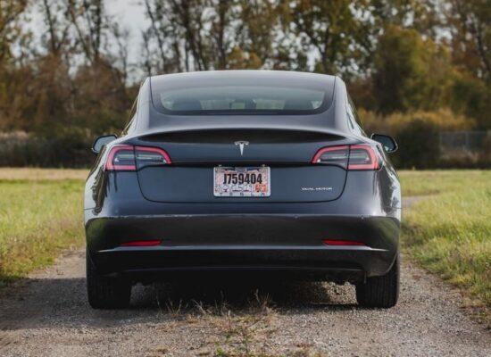 2020 Tesla Model 3 rear view