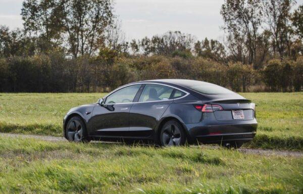 2020 Tesla Model 3 side view