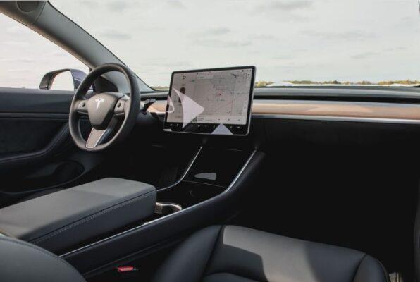 2020 Tesla Model 3 simple interior view