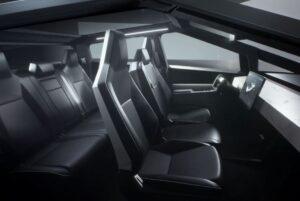 2021 Tesla Cyber Truck interior cabin view
