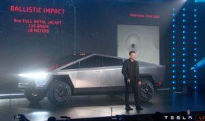 2021 Tesla Cyber Truck un veiling image