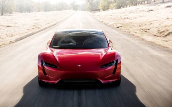 2021 Tesla Roadster front view