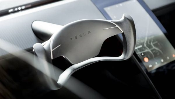 2021 Tesla Roadster steering wheel