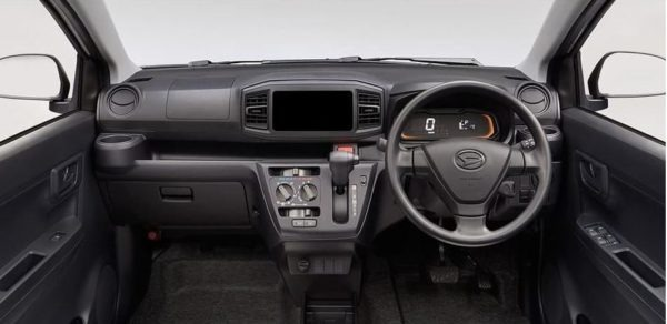 8th Generation Daihatus Mira front cabin interior