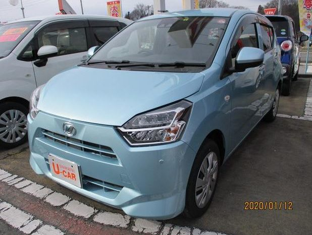 8th Generation Daihatus Mira headlamps close view