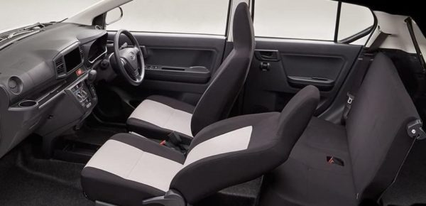 8th Generation Daihatus Mira interior cabin full view