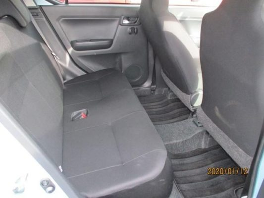 8th Generation Daihatus Mira rear seats