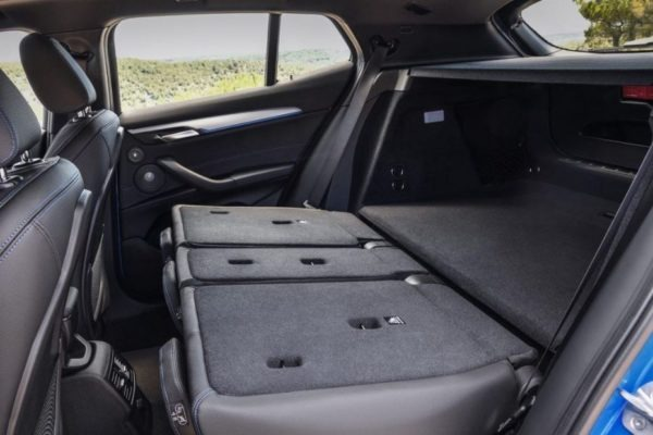 BMW 2 Series X2 SUV folded rear seats 1