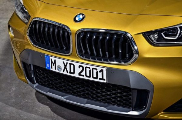 BMW 2 Series X2 SUV front grille close view 1