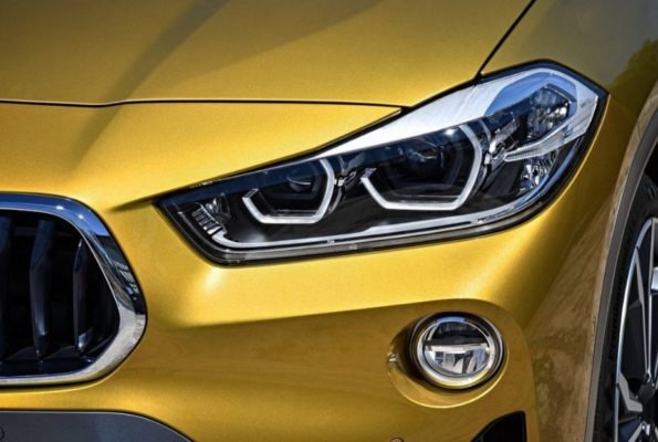 BMW 2 Series X2 SUV front headlamps and fog lamps 1