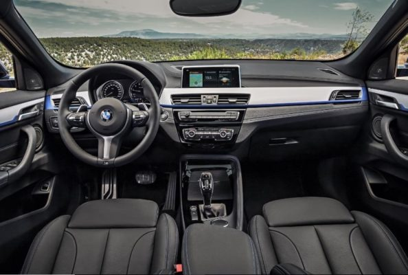 BMW 2 Series X2 SUV front interior cabin view 1