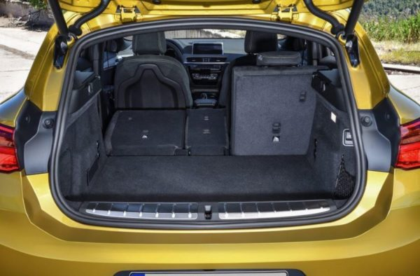 BMW 2 Series X2 SUV luggage area view 1