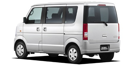 Suzuki Every Wagon side and Rear View