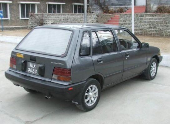 Suzuki Khyber side rear view