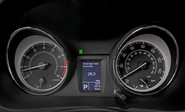 Suzuki Kizashi information meters view