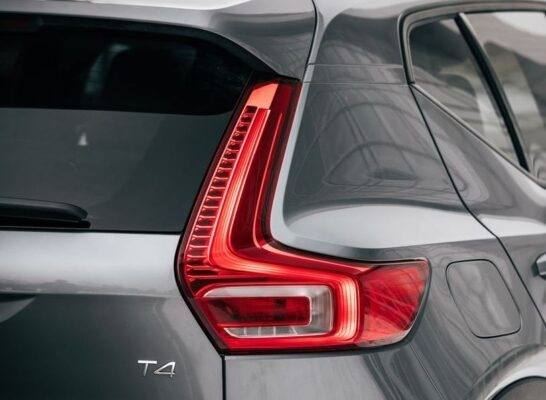 2020 Volvo XC40 rear tail light close view