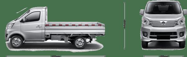 Changan M9 Pickup Truck exterior dimensions