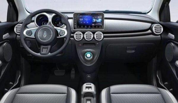 ORA R1 EV front cabin interior view