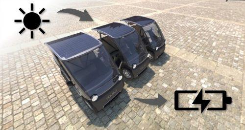 Squad Solar City Car charging via sunlight