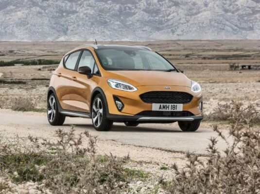 2021 Ford Fiesta orange front view