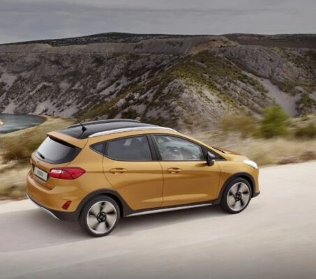 2021 Ford Fiesta orange side view