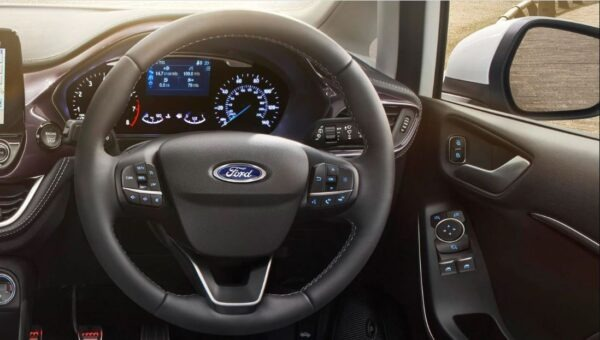 2021 Ford Fiesta steering wheel view