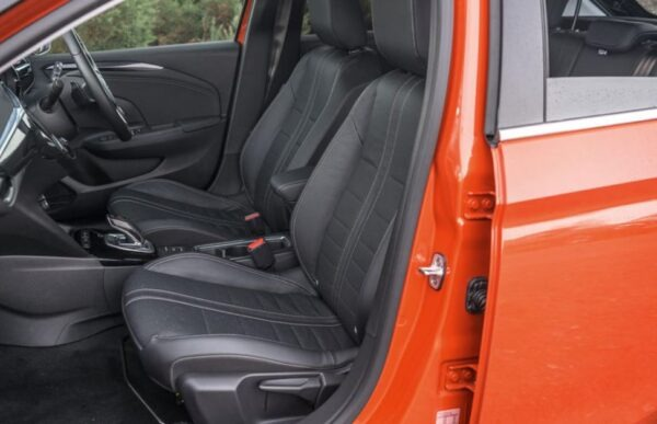 6th Generation Vauxhall corsa front seats view