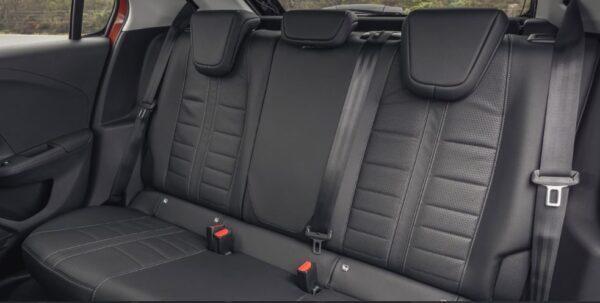 6th Generation Vauxhall corsa rear seats view