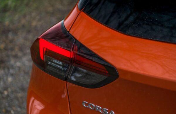 6th Generation Vauxhall corsa rear tail light close view