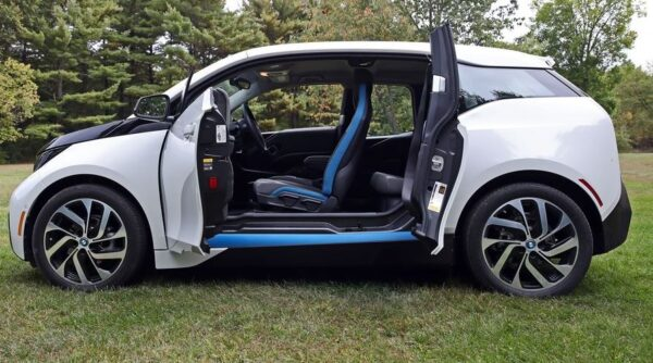 BMW i3 REX doors open side view