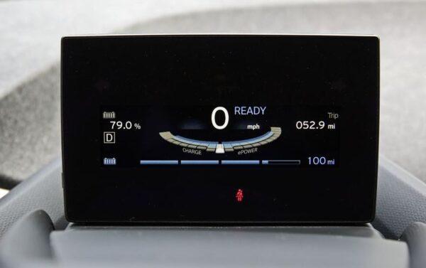 BMW i3 REX infotainment screen view