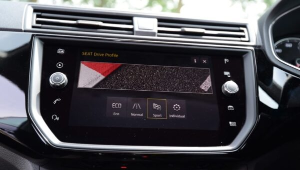 SEAT Ibiza 5th Generation infotainment screen view