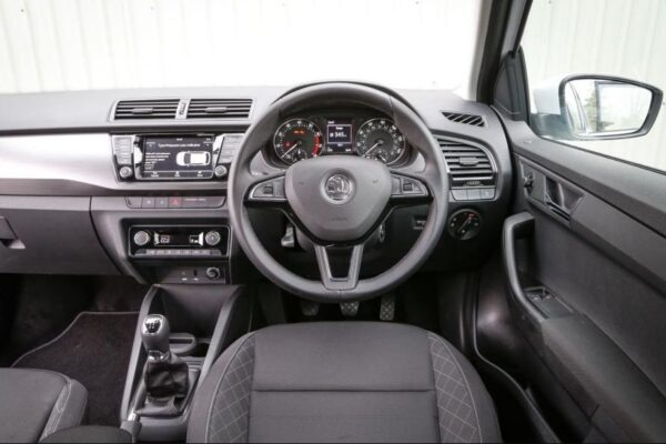 3rd Generation Skoda Fabia front cabin interior view full