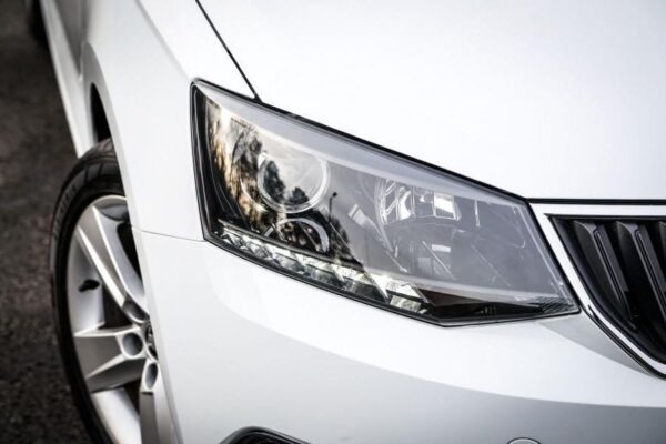 3rd Generation Skoda Fabia front headlamps close view