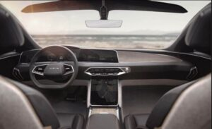Lucid Air All Electric vehicle interior view
