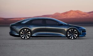 Lucid Air All Electric vehicle side view