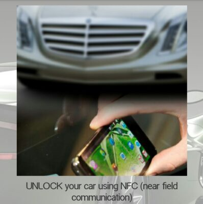 unlock your car using NFC near field communication