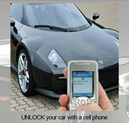unlock your car using cell phone