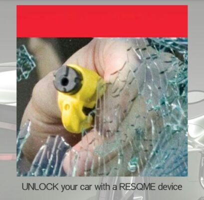 unlock your car with Resqme device