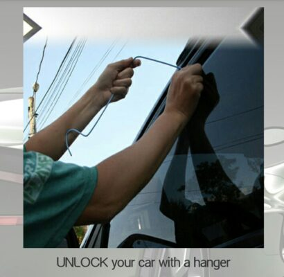 unlock your car with hanger